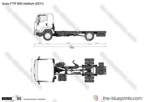 Isuzu FTR 900 medium vector drawing