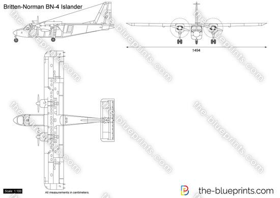 Britten-Norman BN-4 Islander vector drawing