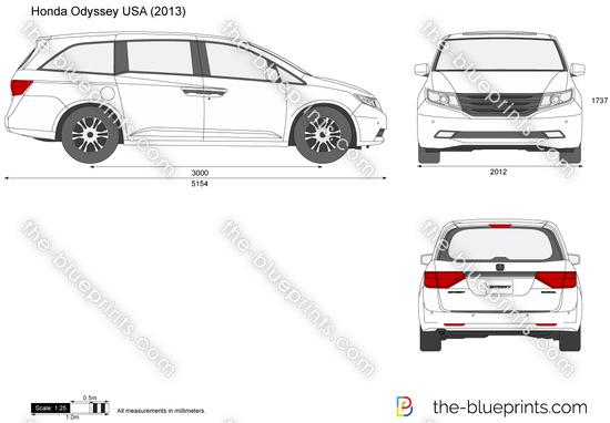 Honda Odyssey USA vector drawing