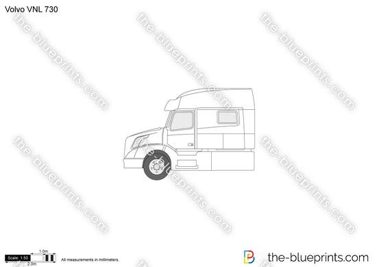 Volvo VNL 730 vector drawing