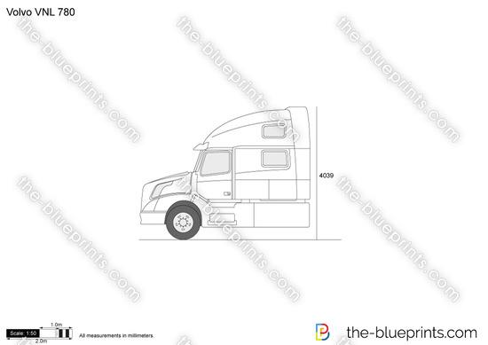 Volvo VNL 780 vector drawing