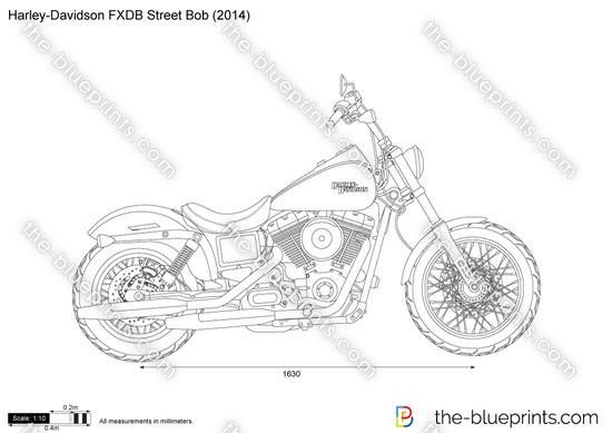 Harley-Davidson FXDB Street Bob vector drawing