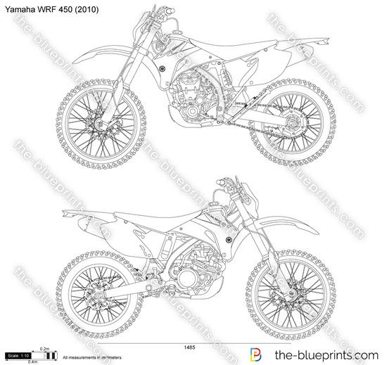 Yamaha WRF 450 vector drawing