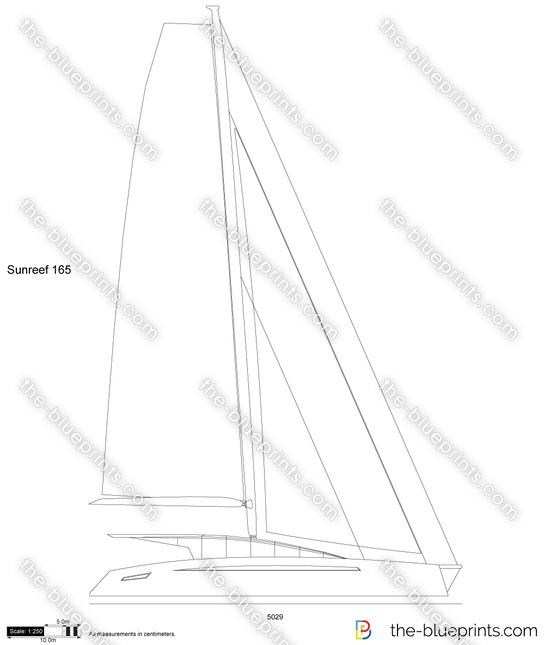 Sunreef 165 vector drawing