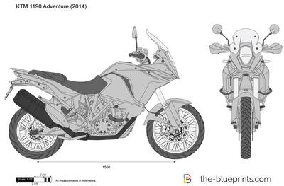 KTM 1190 Adventure vector drawing