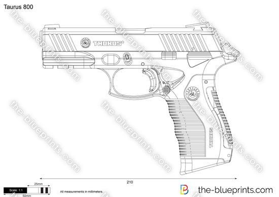 Taurus 800 vector drawing