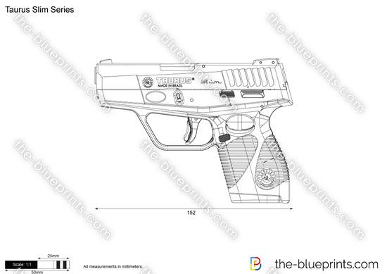 Taurus Slim Series vector drawing