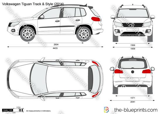 Volkswagen Tiguan Track & Style vector drawing