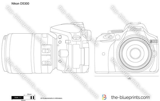 Nikon D5300 vector drawing