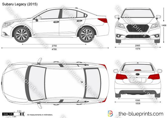 Subaru Legacy vector drawing