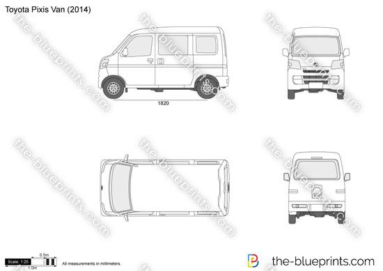Toyota Pixis Van vector drawing