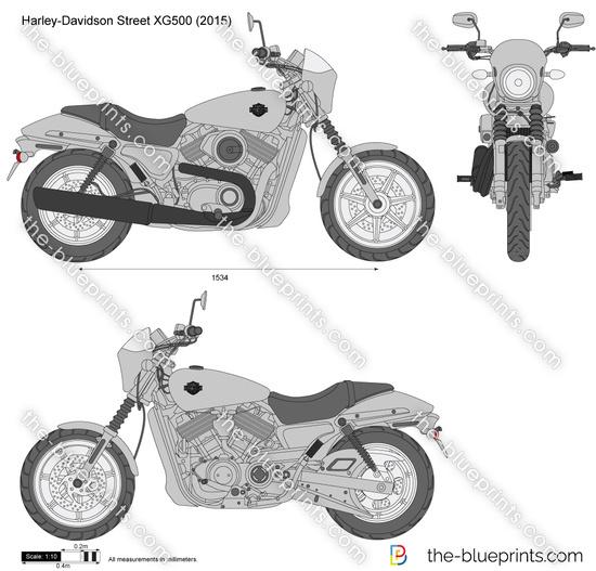 Harley-Davidson Street XG500 vector drawing