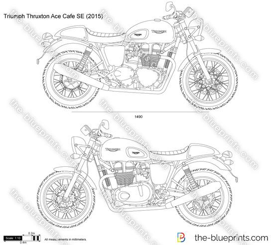 Triumph Thruxton Ace Cafe SE vector drawing