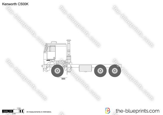 Kenworth C500K vector drawing