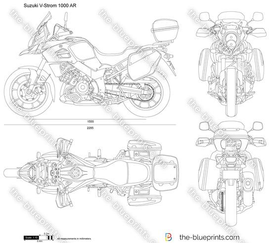 Suzuki V-Strom 1000 AR vector drawing