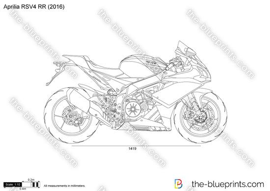 Aprilia RSV4 RR vector drawing