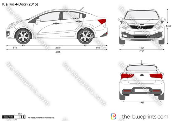 Kia Rio 4-Door vector drawing