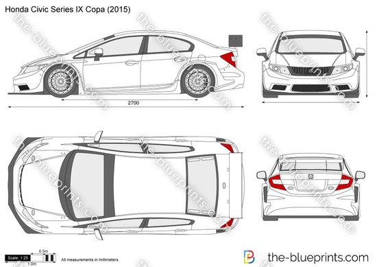 Honda Civic Series IX Copa vector drawing