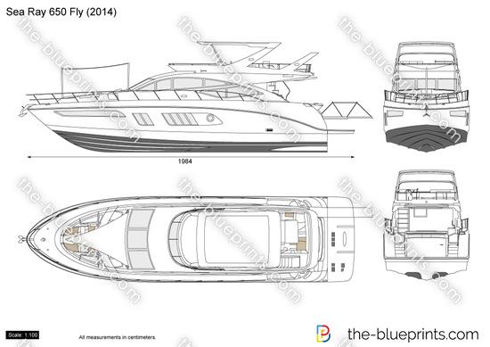 Sea Ray 650 Fly vector drawing
