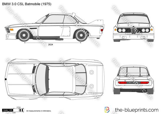 BMW 3.0 CSL Batmobile vector drawing