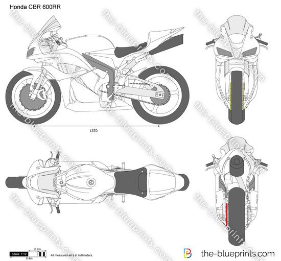 Honda CBR600RR vector drawing