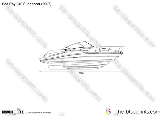Sea Ray 240 Sundancer vector drawing