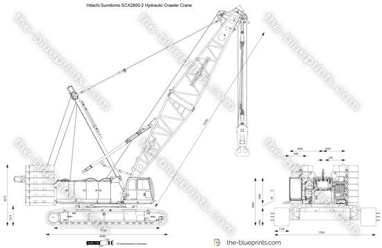 Hitachi Sumitomo SCX2800-2 Hydraulic Crawler Crane vector
