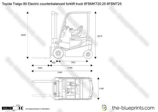 Toyota Traigo 80 Electric counterbalanced forklift truck