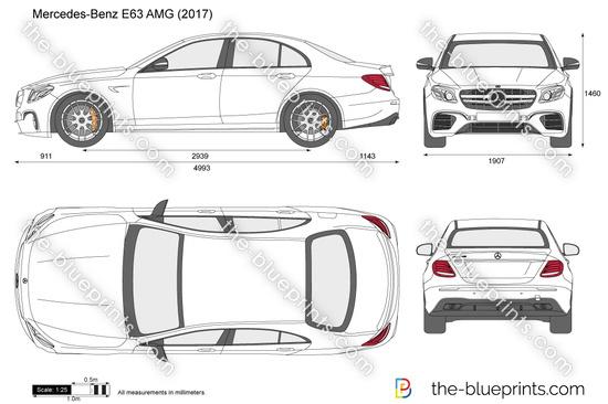 Mercedes-Benz E63 AMG W213 vector drawing