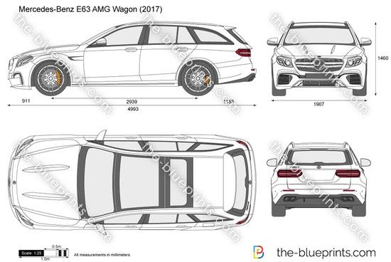 Mercedes-Benz E63 AMG Wagon S213 vector drawing