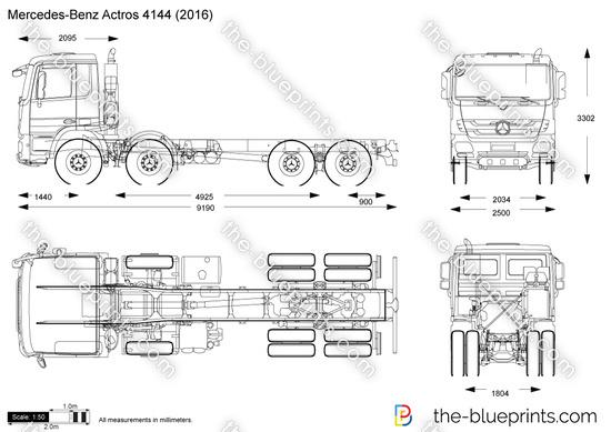 Mercedes-Benz Actros 4144 vector drawing