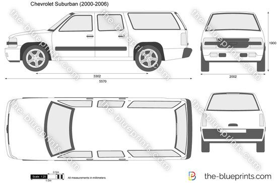 Chevrolet Suburban vector drawing
