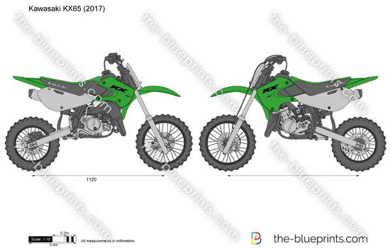 Kawasaki KX65 vector drawing
