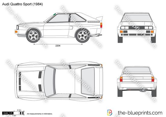 Audi Quattro Sport vector drawing