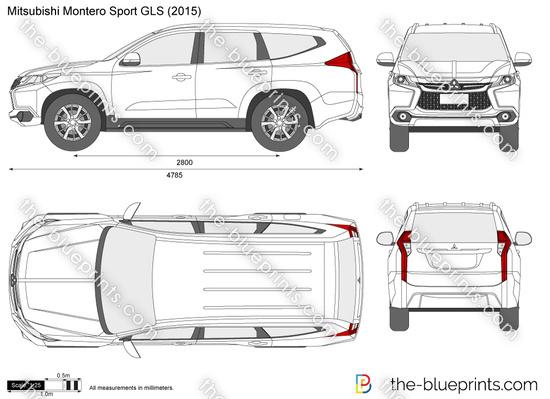 Mitsubishi Montero Sport GLS vector drawing
