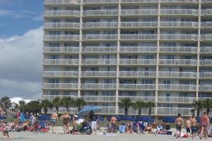 Myrtle Beach only brave guy in swim brief