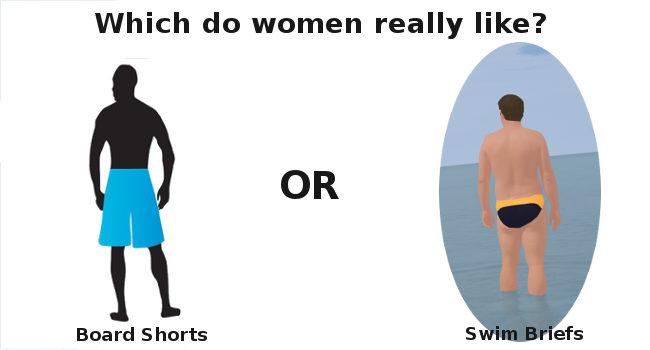 women dislike swim briefs