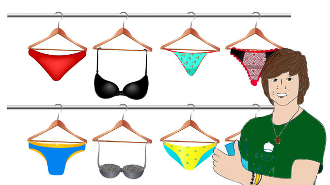 men stop buying women's underwear and swimwear
