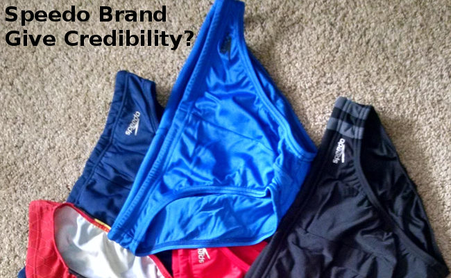 Speedo brand give credibility