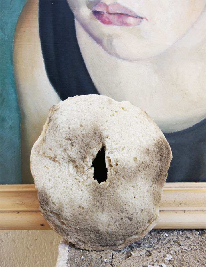 A bagel and a painting