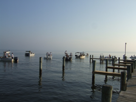 A morning of tournament Skate Bow Fishing on the Patuxent. The Chesapeake Today photo