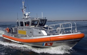 U. S. Coast Guard utility boat; fast to the rescue for those in distress on The Chesapeake and its tributaries.