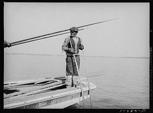 Oysterman working on the Wicomico River in 1941. Photo by Reginald Hotchkiss Library of Congress