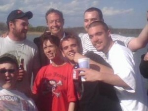 Gov. Martin O'Malley, shown here with several persons at a St. Mary's County boat ramp. One man has been convicted in a home invasion, another in a serious DWI crash, and Sheila Vernon, in red, in front of the Gov. is a hooker.