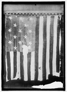 The flag that flew over Fort McHenry