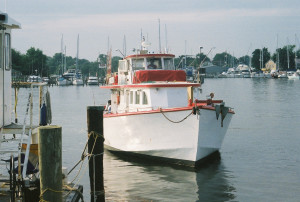 Solomon's Island harbor always has an interesting collection of vessels plying the waters.  THE CHESAPEAKE TODAY photo