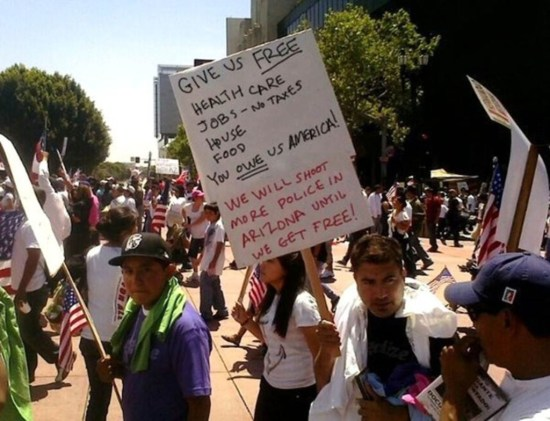 This is the crowd that the Obama Administration is allowing into the United States illegally. Read their demands.