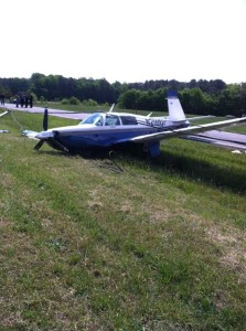 This plane landed on a highway near Georgetown, Delaware on May 18, 2014.