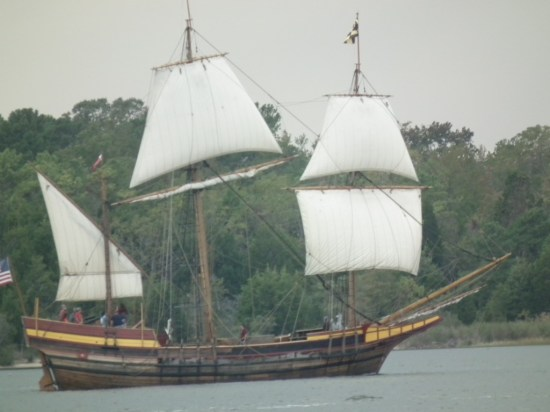 A hard day of sailing leads a ship load of thirsty sailors seeking crabcakes and rum rations to Fitzie's Marina on Breton Bay. THE CHESAPEAKE TODAY photo