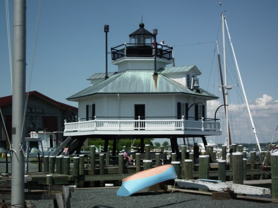 The iconic lighthouse of the Chesapeake Bay was moved and preserved at the Chesapeake Bay Maritime Museum at St. Michaels. THE CHESAPEAKE TODAY photo